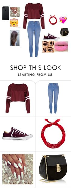 """Untitled #477"" by princessiris7 ❤ liked on Polyvore featuring beauty, River Island, Converse, New Look and Chloé"