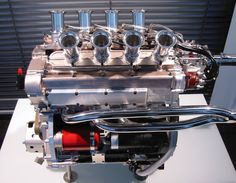 "F2 BMW Radial Valve race engine. Almost looks like a ""W"" engine. Instead, it's a 16 Valve four cylinder with a Radial Valve layout"
