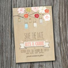 Save the Date Card  Printable  DIY Wedding by SplashOfSilver, $16.00