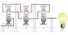 4 way switch wiring diagram - Google Search
