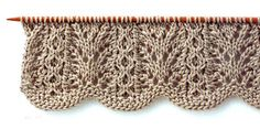 Lace Knitting Stitch with Wavy Edge. Translation for Japanese knitting Sybmols More Great Patterns Like This