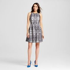 Women's Fit and Flare Printed Dress - Mossimo : Target $29.99