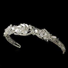 Silver Silver Rhinestone Couture Sensation Bridal Headband - HP 8353