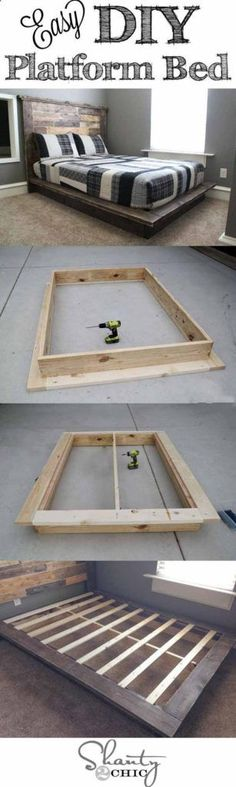 Beautiful and Easy DIY Platform Bed