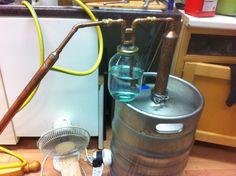 Build a Keg Still for Whiskey (Pot Still Design) : 12 Steps - Instructables Homemade Alcohol, Homemade Liquor, Beer Keg, Wine And Beer, Homemade Still, Reflux Still, Alcohol Still, Distilling Alcohol, Whiskey Still