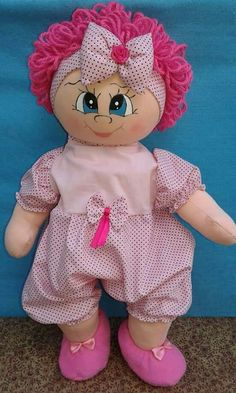 Doll Crafts, Diy Doll, Doll Face Paint, Short Curly Wigs, Thanksgiving Projects, Free Stencils, Fabric Dolls, Doll Patterns, Sewing Tutorials
