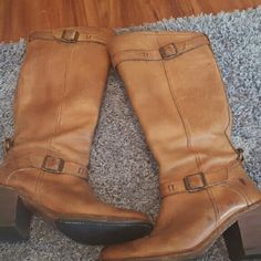 FRYE Boots Brown leather Frye Boots Frye Shoes Heeled Boots