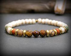 Mens Bracelet, Bracelet for Men, Beaded Bracelet, Stretch Bracelet, Gift for Him, Mens Jewelry, Stack Bracelet, Mens Stretch Bracelet