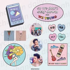 Exo Stickers, Laptop Stickers, Cute Stickers, Acrylic Charms, Journal Stickers, Aesthetic Stickers, Printable Cards, School Design, Sticker Design