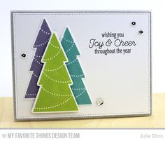 Trim the Tree, Trim the Tree Die-namics - Julie Dinn  #mftstamps