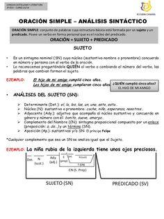LENGUA CASTELLANA Y LITERATURA 3º ESO – CURSO 13/14 IES GRAN CANARIA ORACIÓN SIMPLE – ANÁLISIS SINTÁCTICO ORACIÓN SIMPLE: ...