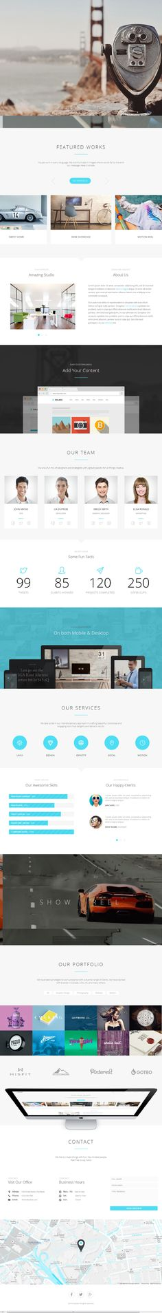 Solido is Premium Responsive Flat HTML5 Template with Parallax Sections. One Page Template. Ajax masonry portfolio. Retina ready.