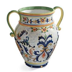 Frontgate: Painted Urn with Handles