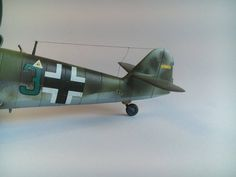 Messerschmitt me-109 g-6 german fighter from WWII 1945, 1: 48 detailed military aircraft scale model, completed, finished.