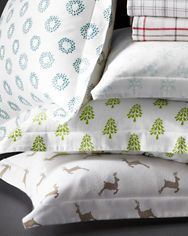 Mini-Print Flannel Bedding