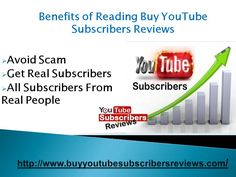 Buy YouTube subscribers service is really a very famous way to promote their business fast in the world now a day. People upload their images and want to get lot of subscribers immediately. Buy YouTube subscribers service is the best way to increase subscribers count instantly. But before buy this service you should know the authenticity of the firm after reading reviews from our site.