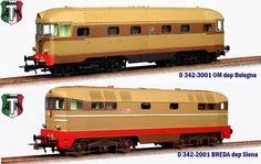 Coppia locomotive diesel prototipo D 342-2001 Breda+D342-3001 OM