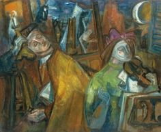 Judit Virág Gallery and Auction House is specialised in Hungarian paintings from the centuries, Art-Nouveau Zsolnay ceramics. Budapest, Piano Y Violin, Kuniyoshi, Moving To Paris, Marc Chagall, Portraits, Jewish Art, Pablo Picasso, Fine Art
