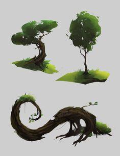 Fantasy Vegetation, David Iglesias Martínez on ArtStation at https://www.artstation.com/artwork/fantasy-vegetation