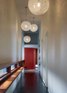 narrow hall treatment: draw the eye up