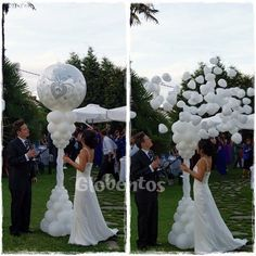 "Balloon stuffed with 5 ""hearts bursts and creates a beautiful surprise effect, not just for the bride. Wedding Balloon Decorations, Wedding Balloons, Wedding Themes, Bride Balloon, Balloon Arrangements, Balloon Gift, Balloon Columns, Deco Floral, Event Decor"