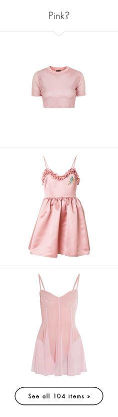 """Pink💕"" by haya22s ❤ liked on Polyvore featuring tops, t-shirts, crop tops, shirts, blush, pink t shirt, sports shirts, tee-shirt, polyester t shirts and t shirts"