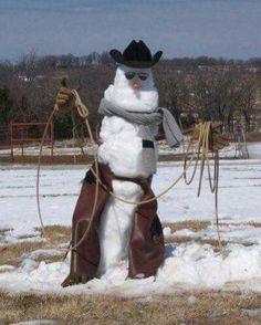 Texan Snowman