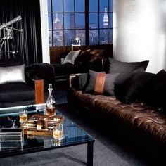 "Ralph Lauren Home Archives, ""Modern Metropolis"" Living Room"