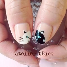 Pin by セロリ on 試してみたいこと Cat Nail Art, Cat Nails, Garra, Cat Nail Designs, Nails For Kids, Mani Pedi, Nails Inspiration, How To Do Nails, Beauty Nails