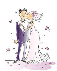Dibujos. Clipart. Digi stamp - Wedding - Novios - Mariage