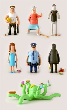 A little bit of happiness for your desk. by Yum Yum; Toys Series 1 & 2 by Yum Yum , via Behance