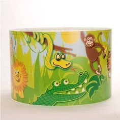 Extra Large Childrens Lampshade Jungle Scene by Raw Design