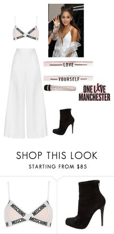 """Ariana grande inspired concert outfit"" by oneloveariana ❤ liked on Polyvore featuring Moschino, Christian Louboutin and Miguelina"