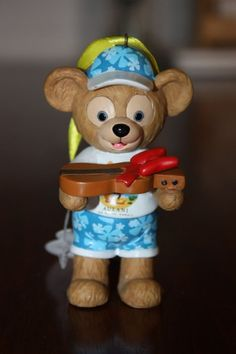 New Disney Aulani Duffy Bear w/ Ukulele Christmas Ornament Hawaii Exclusive Rare