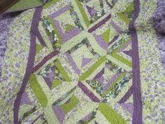 For my dear friend, Cole. Purple and Green Quilt