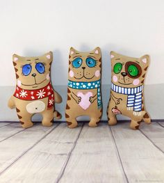Купить Котейки новогодние в интернет магазине на Ярмарке Мастеров