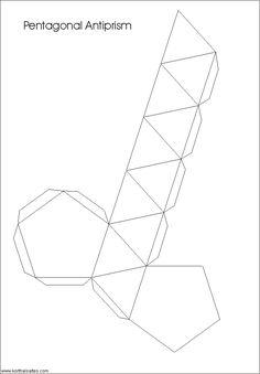 desarrollo plano de unantiprisma pentagonal