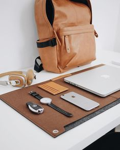 minimalsetupsDesk mat, watch and bag from our store. Link in bio. Use code 'minimalsetups' for 10% off!