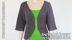 Crochet raglan sleeve cardigan - YouTube