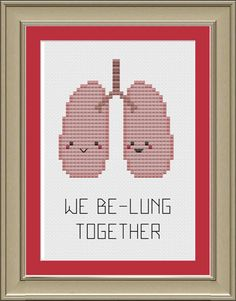 We be-lung together: cute lung anatomy cross-stitch pattern                                                                                                                                                                                 Mehr