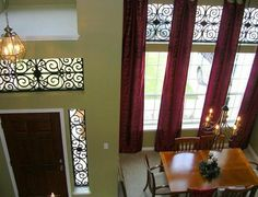 Wondering what to do with those way up high windows? Tableaux Faux Iron might be the solution. http://www.budgetblinds.com/brands/faux-iron-solutions/