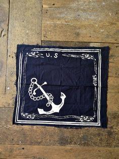 Ship anchor handkerchief