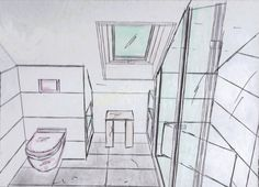 Bathroom design: showering under the slope – Kleines Bad Small Attic Bathroom, Loft Bathroom, Upstairs Bathrooms, Ensuite Bathrooms, Small Room Bedroom, Mini Bad, Attic Conversion, Loft Conversions, Small Attics