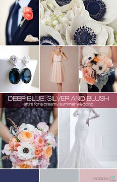 Sapphire and blush