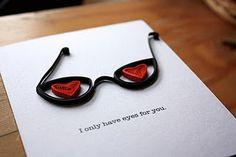 Quilled Valentine shades - cute!