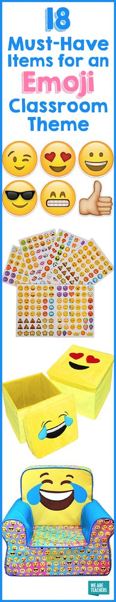 18 Must-Have Items for an Emoji Classroom Theme