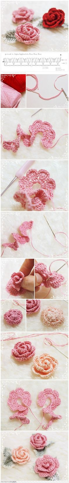 How to make hand-knitted rose na Stylowi.pl