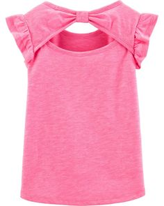 Carter's Girls Round Neck Short Sleeve Graphic T-Shirt-Toddler - JCPenney Toddler Girl Shorts, Baby Girl Tops, Carters Baby Girl, Toddler Outfits, Kids Outfits, Girl Toddler, Baby Girl Dress Patterns, Baby Dress, Newborn Girl Outfits