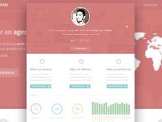 60 FLAT WEB UI DESIGN INSPIRATION