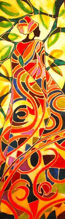 African Pucci Woman Canvas Print / Canvas Art by Lee Vanderwalker